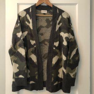 Camo sweater cardigan